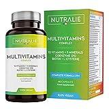 Multivitaminas y Minerales + Coenzima Q10   Complejo Multivitaminico Vegano 29 Nutrientes con Vitaminas A, B, C, D, E, K, Biotina, L-cisteína, Coenzima Q10 y 9 Minerales   60 Cápsulas Veganas Nutralie
