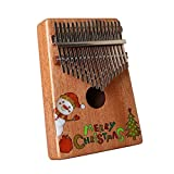 SFFSM 17 Claves Kalimba Africano Pulgar Piano de Madera Maciza de Caoba Cuerpo del Instrumento Musical Dedo Mejor Piano (Color : Wood)