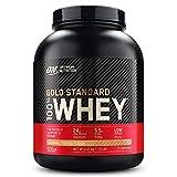 Optimum Nutrition ON Gold Standard 100% Whey Proteína en Polvo, Glutamina y Aminoácidos Naturales, BCAA, Toffee Fudge de Caramelo, 73 Porciones, 2.27kg, Embalaje Puede Variar