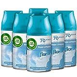 Air Wick Freshmatic - Recambios de ambientador spray automático, esencia para casa con aroma a Flor Ropa Limpia - 238 g - Pack de 6