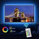 Tiras LED Iluminación (78.7in / 2m. en 4 bandas), EveShine RGB TV LED operadas con mando a distancia para Televisores de 40 a 60 pulgadas - Reduce el cansancio visual y aumenta la calidad de la imagen