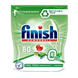 Finish 0% pastillas para lavavajillas libres de conservantes y fragancia, 80 pestañas
