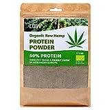 Polvo de proteína de cáñamo crudo orgánico LOOV, 1 kg, 50% de proteína, Nutrientes conservados, Rico sabor a nuez, Cultivado en clima nórdico, Polvo de proteína vegana a base de plantas, no es OGM