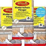 Aeroxon Colgadores antipolillas – 3 x 2 unidades – Nuevo totalmente inodoro – Fiable, fuerte y rápido control de polillas para armario