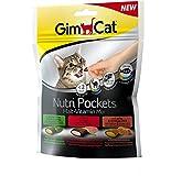 GimCat Nutri Pockets Malt-Vitamin Mix - Snack crujiente para gatos, con relleno cremoso e ingredientes funcionales - 1 bolsa (1 x 150 g)