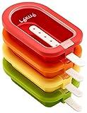 Lékué Polo apilable mini 10,5 cm, 4 Unidades, Surtido multicolor, Silicona