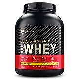 Optimum Nutrition ON Gold Standard 100% Whey Proteína en Polvo, Glutamina y Aminoácidos Naturales, BCAA, Crema de Plátano, 76 Porciones, 2.28kg, Embalaje Puede Variar