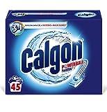 Calgon Powerball Pastillas - Antical para la Lavadora, Elimina Olores y Suciedad, en formato pastillas, 45 unidades