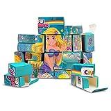 CRAZE Premium Advent Calendar 25338 adviento 2020 Rainbow Mermaid para niñas CREA tu Propio Calendario de Navidad DIY, Color Play Set