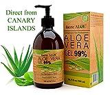 GEL Aloe Vera PURO 99% CERTIFICADO ORGANICO 100% Para CARA CUERPO CABELLO Deja PIEL Suave - 500 ml / 16.9 fl oz