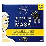 NIVEA Q10 Power - Mascarilla antienvejecimiento para dormir (50 ml), crema antiarrugas con potente creatina, deja la máscara completa encendida durante la noche para una piel de aspecto hermoso.