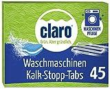 Claro Descalcificador Pastillas Ecológicas - 45 Unidades - Limpiador Quita Cal y Sarro para Lavadoras - Antical Biodegradable