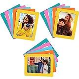 BELLE VOUS Set Marco de Fotos Magnético para Refrigerador (Pack de 15) Portafotos 10x15 cm - Marcos de Fotos Collage para Nevera y Superficies de Metal – 5 Colores