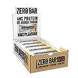BioTechUSA Zero Bar Barrita de proteínas con alto contenido proteico, sin azúcar añadido o aspartamo, libre de lactosa y gluten, con edulcorantes, 20 * 50 g, Chocolate Chip Cookies