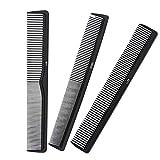 Peine de peluquería, peine de peinado profesional, peine de dientes finos, peines de peluquería resistentes al calor, peines para hombres y mujeres la mayoría de tipos de cabello, paquete de 3