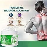 Sahgsa Gel de Tratamiento de Aceite de cáñamo en Crema para aliviar el Dolor Activo para la inflamación, Dolor de Rodilla, Hombro y Espalda y Dolor Muscular