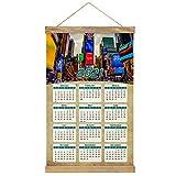 Estados Unidos América Times Square Nueva York Calendario de pared 2021 12 meses Lienzo Madera 20.4 'x 13.1' GL-USA-6500