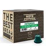 Note d'Espresso Italiano - Cápsulas de Café Intenso Compatibles con Cafeteras Nespresso, 100 Unidades de 5.6G, Total 560g