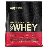 Optimum Nutrition Gold Standard 100% Whey Proteína en Polvo, Glutamina y Aminoácidos Naturales, BCAA, Double Rich Chocolate, 146 Porciones, 4,54kg, Embalaje Puede Variar