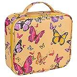 Bageek - Estuche de viaje para maquillaje, diseño de mariposas, bolsa organizadora de cosméticos