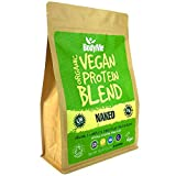 BodyMe Mezcla de Proteina Vegana Organica en Polvo | Naked Natural | 1kg | Sin Edulcorante | Baja Carb | Sin Gluten | 3 Proteinas Veganas | 24g Proteina Vegetal Completa | Todos Aminoacidos Esenciales