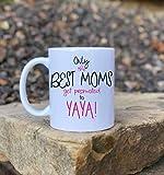 N\A Solo la Mejor mamás Promocionarse a Yaya, Regalo para mamá, Ascenso a Abuela, Nueva Taza de Abuela, Taza de Yaya, Linda Taza de café, Taza de Abuela Personalizada