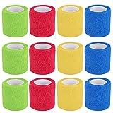 Vendaje cohesivo,12 Vendajes Elásticos Adhesivos Adhesivos Para Camuflaje de La Pegatina de Bicicleta de Caza (A)