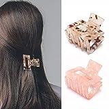 Runmi Pinzas para el pelo, color rosa, tamaño mediano, accesorios para el pelo para mujeres y niñas (paquete de 2)