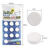 Joojun 10PCS WC Tablets Desodorante Inodoro Agente de Dragado. La tubería de Agua se descompone fuertemente para Eliminar Manchas y Pastillas de Limpieza para disolver el Cabello graso