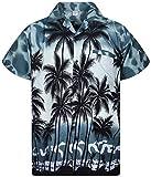 V.H.O. Funky Camisa Hawaiana, Beach, Gris, S