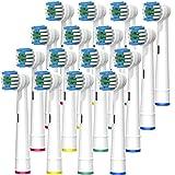 FIRIK Cabezas de cepillo de dientes eléctrico compatible con Oral B (Paquete de 16)