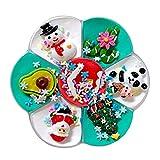 xiaowang Calendario de Adviento para niños, DIY Crystal Set de cuenta de Navidad, divertido alivio del estrés Ramen barro color a juego rompecabezas arcilla plastilina