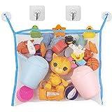 Red de Almacenamiento para la Bañera, Organizador de juguetes de los niños, Bolsa organizadora baño, Red para colgar accesorios ducha, 2 x ventosas + 2 x ganchos adhesivos, organizador juguetes baño