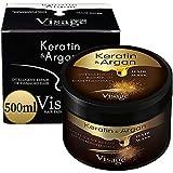 VISAGE Mascarilla capilar con aceite de argán y queratina | Tratamiento capilar para cabello dañado y seco | Hidratante, sin experimentos con animales, tratamiento premium de 500 ml