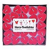 pajoma Love Me - Velas de té (50 unidades, duración de 3 horas, forma de corazón)