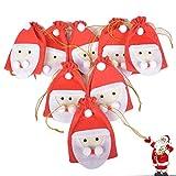 Calendario de Adviento Nikolaus, bolsa de calendario de Adviento para llenarte Papá Noel con 1-24 adornos navideños de fieltro digital para fiestas navideñas