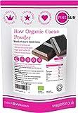PINK SUN Cacao en Polvo Crudo Orgánico 1kg Bio Puro Sin Azúcar Añadido Sin Gluten Sin Lácteos Vegetariano Vegano Ecologico Criollo 1000g Bulk