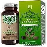 FS Saw Palmetto con Zinc 320mg por Capsula   180 Capsulas Veganas de Alta Potencia   Serenoa Repens   Saw Palmetto Pelo, Prostata y la Salud Masculina — Sin OGM o Lacteos