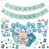 Decoraciones para Baby Shower de niño, globos de fiesta de Baby Shower para niño, pancartas de Baby Shower, accesorios para fotomatón, es un confeti de niño para el favor de la ducha del bebé