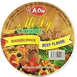 A-ONE Fideos Instantáneos En Vaso, Sabor Carne De Res 65 g