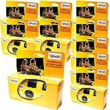 EDITION PHOTO PORST - Cámaras desechables (10 unidades, 27 fotos, con flash y pilas)