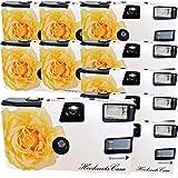 10 x Photo Porst Boda Cámara/cámara desechable Crema Amarillas de Bodas Rose (Instrucciones en alemán, con Flash luz y Pilas, por 27 Fotos, ISO 400 Fuji)